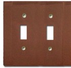Brass Accents Contemporary Style Weathered Rust Switchplate