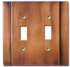 Brass Accents Contemporary Style Antique Copper Switchplate