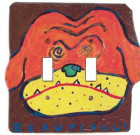 Beautiful Dog Masonite Switch Plate / 2 Toggle