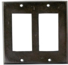 Rustic – Dark Bronze Finish Solid Brass Switch Plate