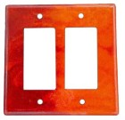 Mercury Mosaics Flame Ceramic Switch Plate / 2 Rocker