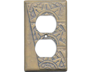 Good Night Irene Deco Texture – Blue Switch Plate