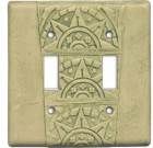 Good Night Irene Deco Texture – Green Switch Plate