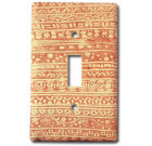 Good Night Irene Horizontal Motif – Soft Terra Cotta Switch Plate