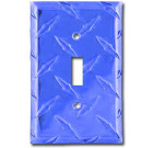 Diamond Plate Aluminum Switchplate – Blazin' Blue