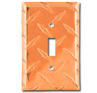 Diamond Plate Aluminum Switchplate – Biker Orange