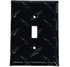 Diamond Plate Aluminum Switchplate – Midnight Black