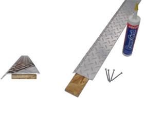 Diamond Plate Aluminum Base Molding – Silver