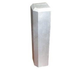 Diamond Plate Aluminum Inside Corner for Base Molding – Silver