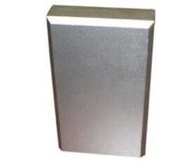 Diamond Plate Aluminum Plinth Block for Base Molding – Silver