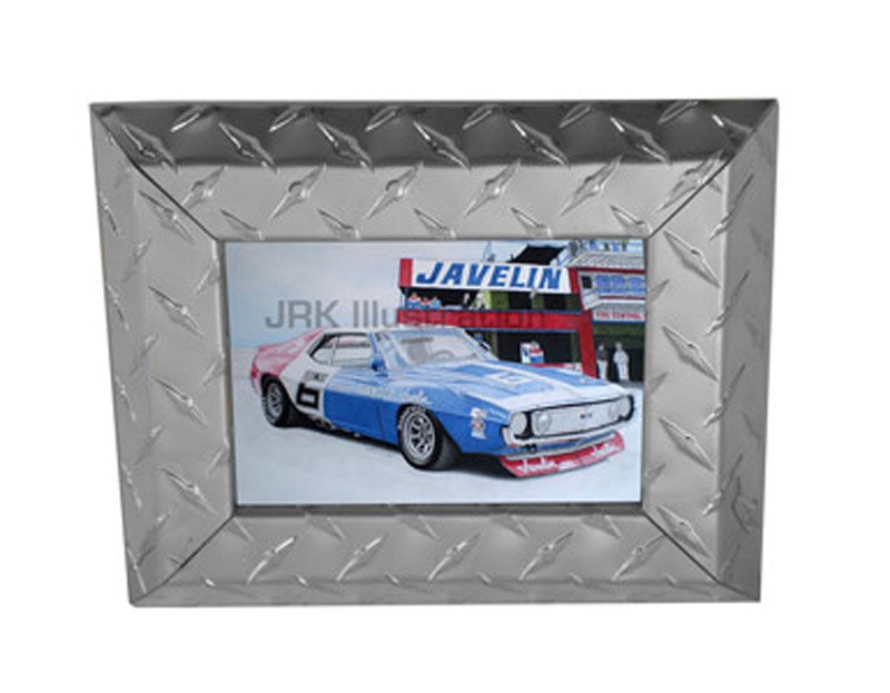 Diamond Plate Aluminum Picture Frame 2 Quot Trim Silver