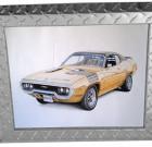 Diamond Plate Aluminum Picture Frame 2″ Trim – Silver
