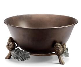 Pinecone and Leaf Beverage Tub – Aluminum